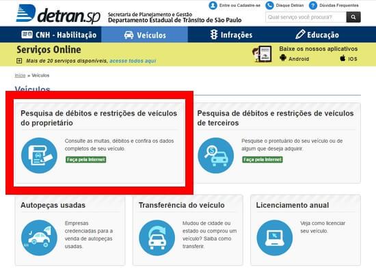 Consulta Débitos Detran São Paulo 2021